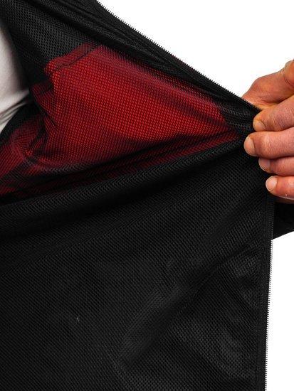 Черная ветровка мужская спортивная куртка Bolf HM147