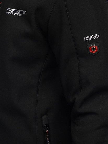 Черно-красная мужская куртка софтшелл Bolf WX061