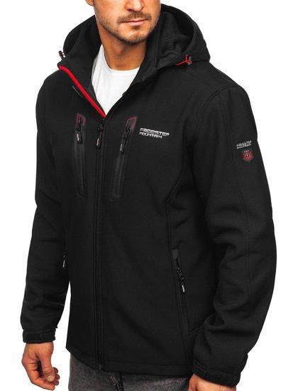 Черно-красная мужская куртка софтшелл Bolf WX063d