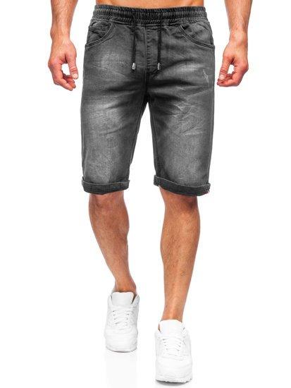Черные джинсовые шорты мужские Bolf k15010-2