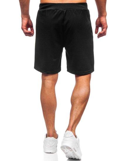 Черные мужские спортивные шорты Bolf KS2606