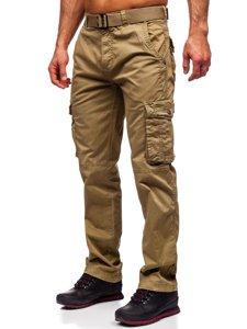 Бежевые мужские брюки карго с ремнем Bolf CT8906