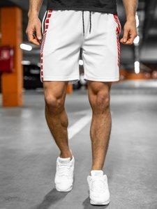 Белые мужские спортивные шорты Bolf KS2595