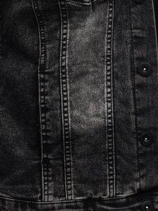 Графитовая мужская джинсовая куртка с капюшоном Bolf 10350