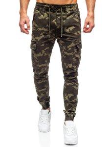 Зеленые мужские брюки джоггеры карго Bolf KA2122