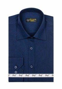 Рубашка мужская BOLF 1703 темно-синяя