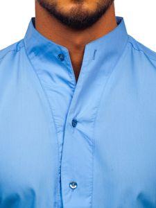 Рубашка мужская BOLF 5702 голубая
