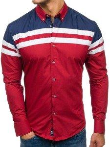 Рубашка мужская BOLF 6885 бордовая