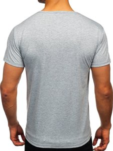 Серая мужская футболка с принтом Bolf KS2633