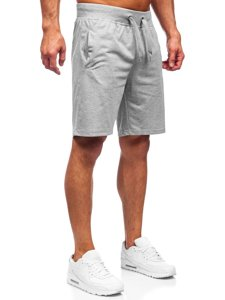 Серые спортивные шорты мужские Bolf K10003