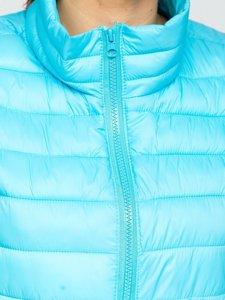 Синий стеганый женский жилет Bolf 23038