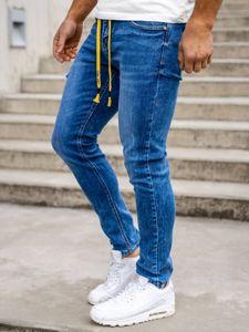 Темно-синие мужские джинсы skinny fit Bolf KX565