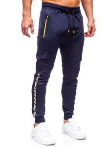 Темно-синие мужские спортивные брюки карго Bolf K10279
