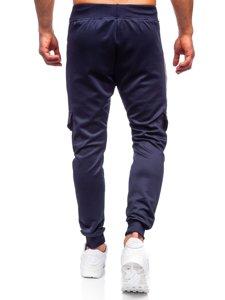 Темно-синие мужские спортивные брюки карго Bolf K10283