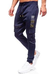 Темно-синие мужские спортивные брюки карго Bolf K10287