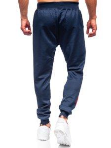 Темно-синие мужские спортивные брюки Bolf K10137