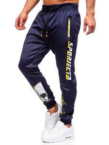 Темно-синие мужские спортивные брюки Bolf K10239