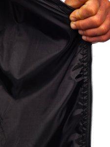 Темно-синяя мужская демисезонная куртка бомбер Bolf M10290