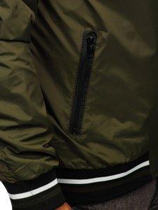 Хаки мужская демисезонная куртка бомбер Bolf M10289