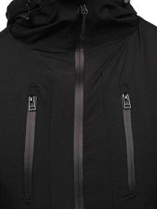 Черная ветровка мужская спортивная куртка Bolf HM093