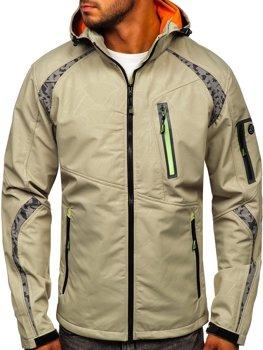Бежева чоловіча куртка софтшелл Bolf 2251