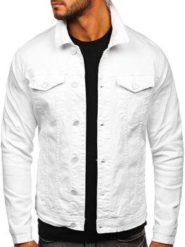 Біла джинсова чоловіча куртка Bolf G039