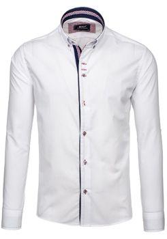 Біла елегантна чоловіча сорочка з довгим рукавом Bolf 6938 БІЛИЙ f6333756ae749