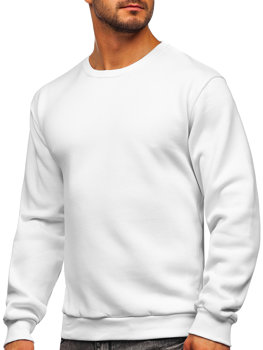 Біла чоловіча толстовка без капюшона Bolf 2001