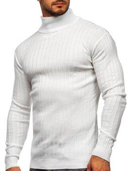 Білий чоловічий светр гольф Bolf 520