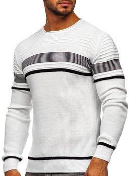 Білий чоловічий светр Bolf 1061