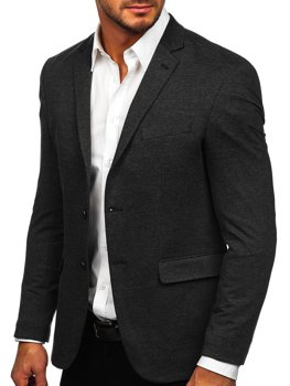Графітовий елегантний чоловічий піджак Bolf C191060
