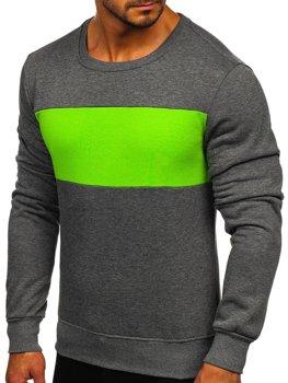 Графітово-зелена чоловіча толстовка без капюшона Bolf 2021