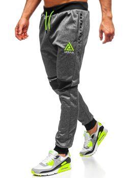 Графітові чоловічі спортивні штани з принтом Bolf AM87