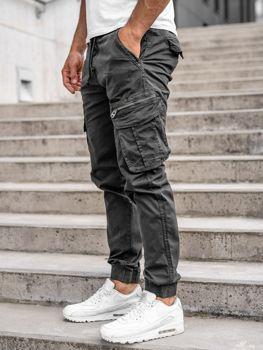 Графітові чоловічі штани джоггери-карго Bolf CT6701