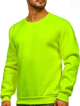 Жовто-неонова чоловіча толстовка без капюшона Bolf 2001