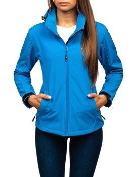 Жіноча демісезонна куртка софтшелл синя Bolf AB056