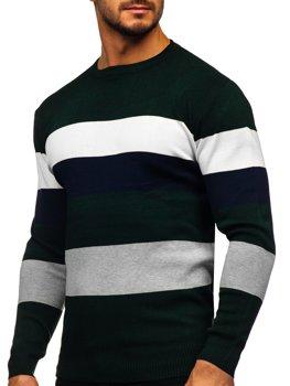 Зелений чоловічий светр Bolf H2005