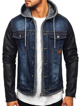Куртка джинсова чоловіча темно-синя Bolf AK531