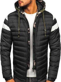 Куртка чоловіча демісезонна спортивна стьобана чорна Bolf 50A462