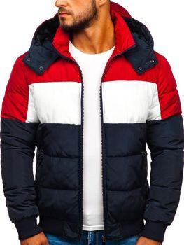 Куртка чоловіча зимова спортивна темно-синя Bolf Jk396