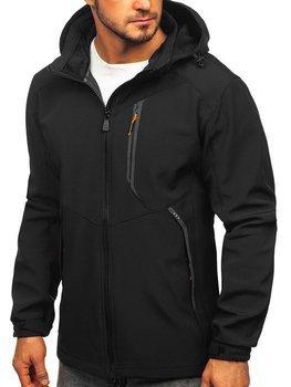 Куртка чоловіча софтшелл чорно-помаранчева Bolf 12266