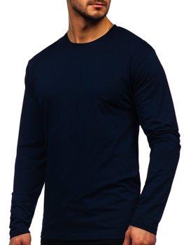 Лонгслів чоловічий без принта темно-синій Bolf 172007
