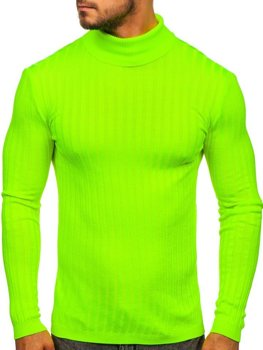 Светр чоловічий гольф зелений-неон Bolf 2002