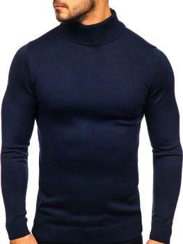 Светр чоловічий гольф темно-синій Bolf 4519