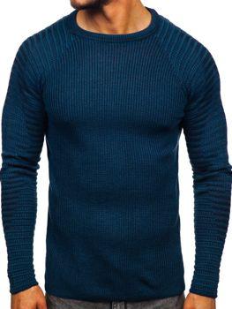 Светр чоловічий синій Bolf 0002