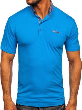 Синя чоловіча футболка поло Bolf 192295
