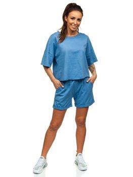 Синій жіночий спортивний комплект Bolf 6256