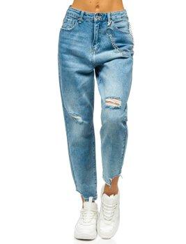 Сині жіночі джинси mom fit Bolf WL1692