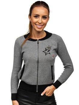 Сіра жіноча демісезонна куртка Bolf 554