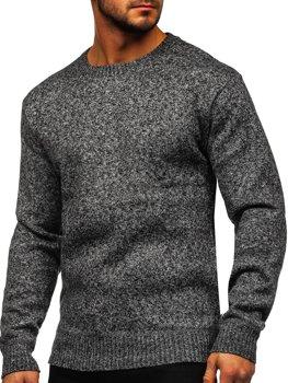 Сірий утеплений Чоловічий светр Bolf 7M117